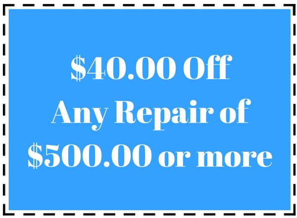 $40 off any repair of $500 or more pool repair coupon