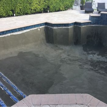 In the middle of a pool renovation in South Florida
